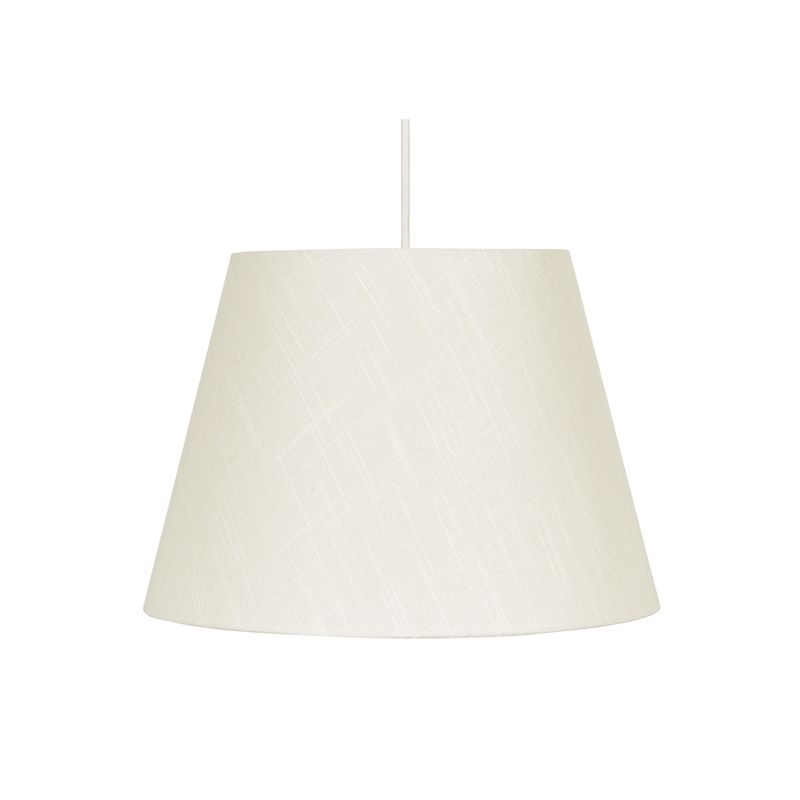 Linen Tapered Lamp Shade Ivory White 40cm Lamp Fabric Shades