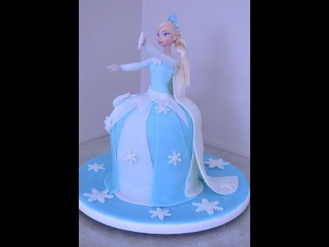 Disney's Frozen Doll Fondant Cake - Bizcocho de Frozen de Disney - YouTube