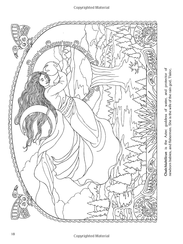 Goddesses Coloring Book | Dover Coloring | Pinterest | Coloring ...