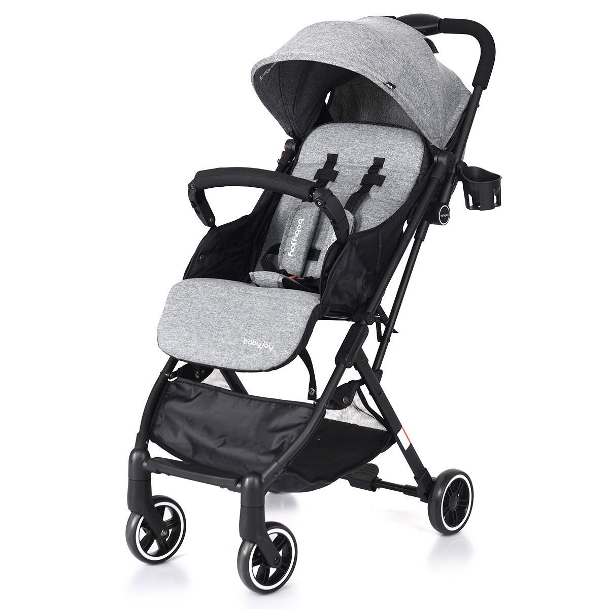 Lightweight Foldable Pushchair Baby Stroller with Foot