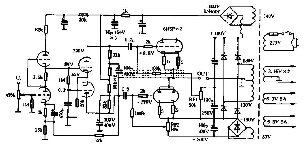 Tube Otl Headphone Amplifier Circuit Diagram