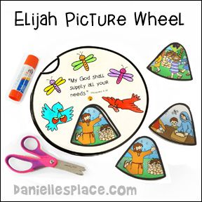 elijah and the widow craft ideas elijah picture wheel elijah bible craft for children s 7707