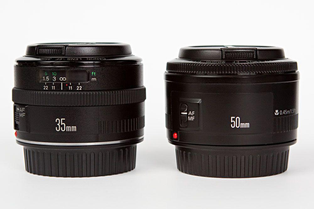 Canon Ef 35mm F 2 And Canon Ef 50mm F 1 8 Ii Lenses Canon Ef Lenses Canon