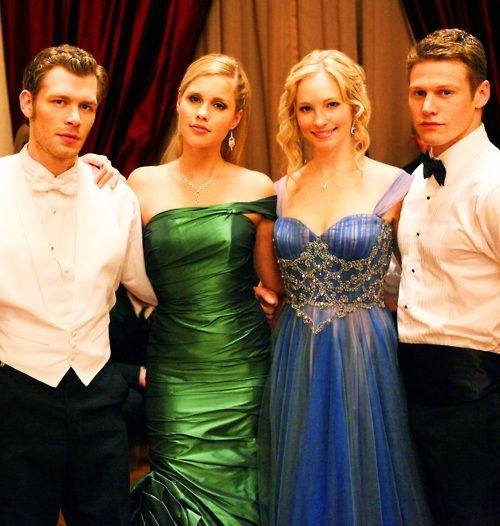 Klaus, rebekah, caroline and matt