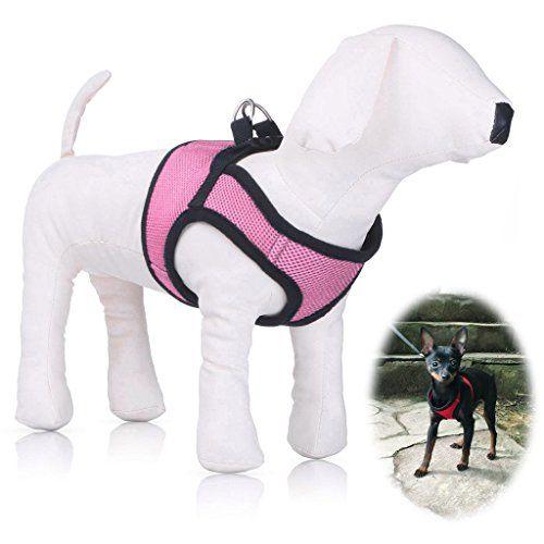 Small Dog Harness Petbaba Soft Ventilate Mesh Vest Velcro Quick