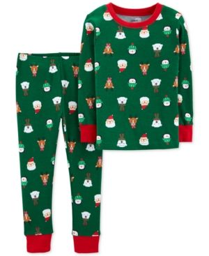 a1407eb77 Carter s Toddler Boys 2-Pc. Snug-Fit Cotton Holiday-Print Pajamas ...