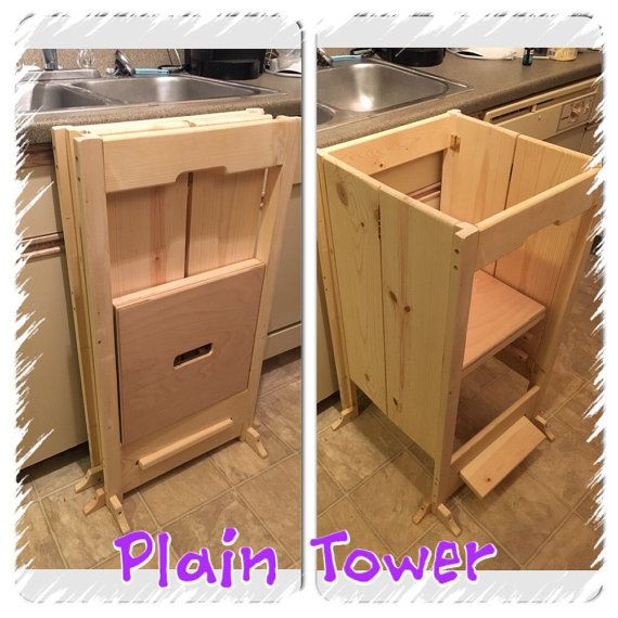 Diy Kitchen Helper: Kid's Collapsible / Learning Helping Stool Foldable And