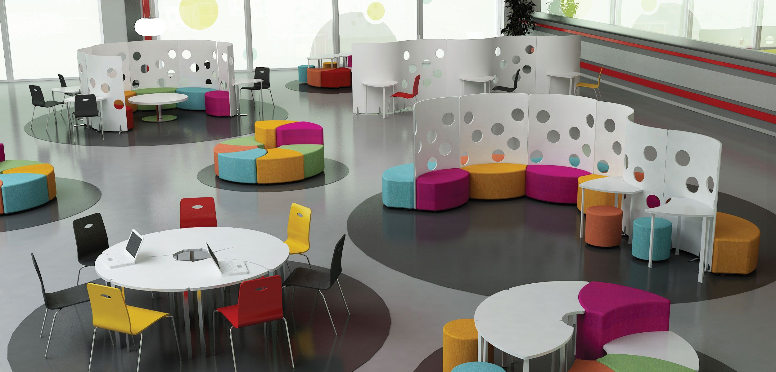 Flexible Moveable Furniture Colour Classroom Furniture