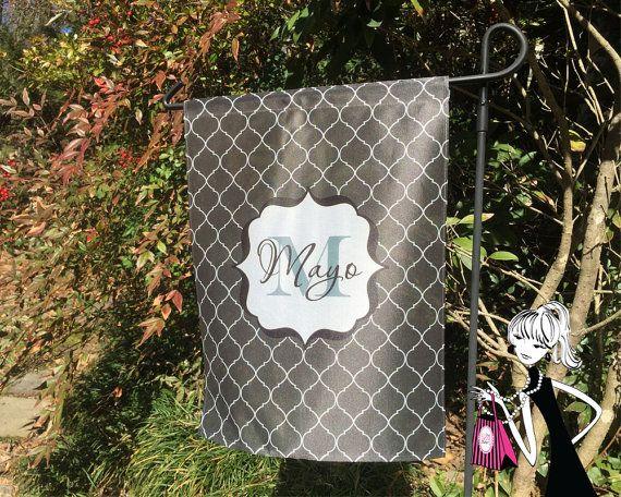 Cute!! Would be a great settlement or housewarming gift!! Custom Garden Flag Personalized Garden Decor