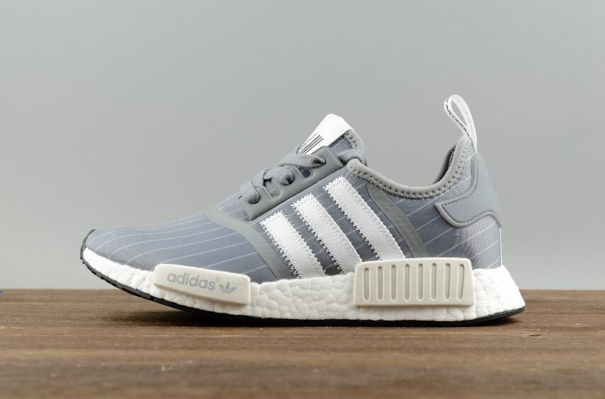 60e95b745 Adidas Original NMD R1 Bedwin BB3123 White Grey Real Boost Sport Sneakers 1