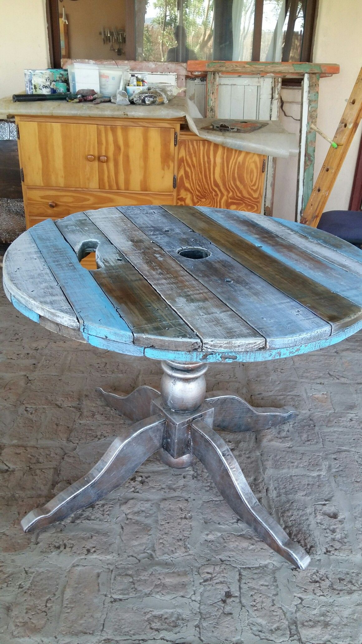 Garden and home zambia  Cable wheel table by karin in zambia  architectural salvage