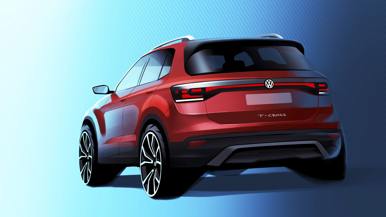 First Glimpse Of The New Volkswagen T Cross Top Speed Volkswagen Volkswagen Touareg Upcoming Cars