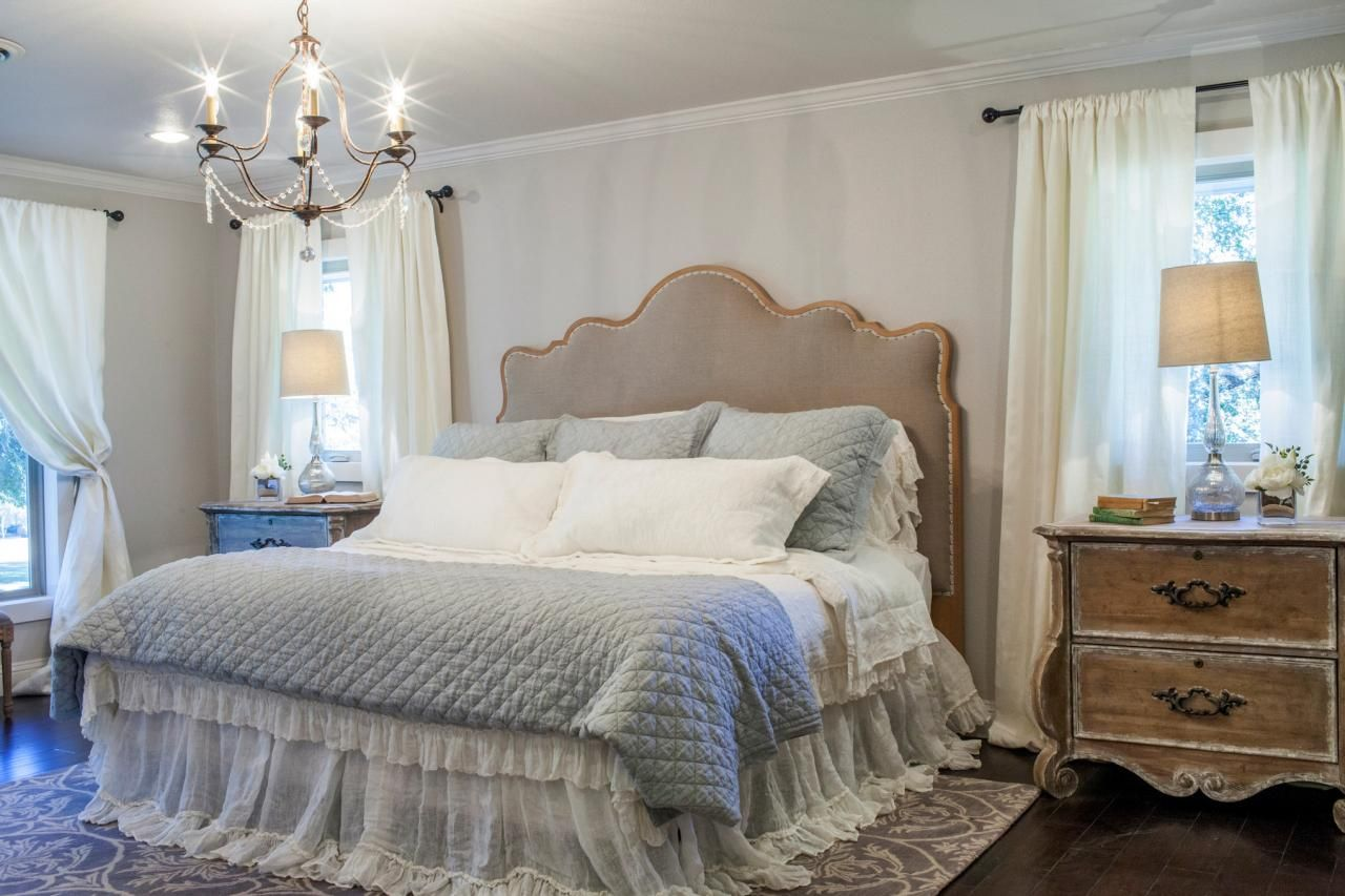 Fixer upper midcentury asian ranch goes french country for Fixer upper bedroom designs