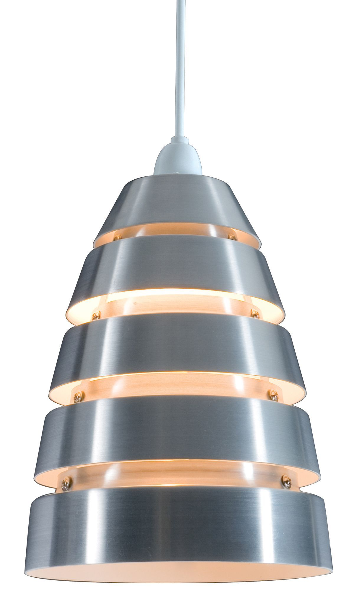 Colours Jet Cream Aluminium Cutaway Pendant Light Shade (D)180mm