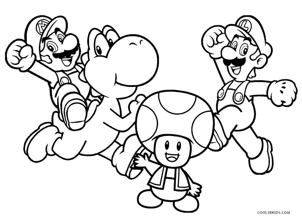 Mario Coloring Pages Free Printable Brothers For Kids ...