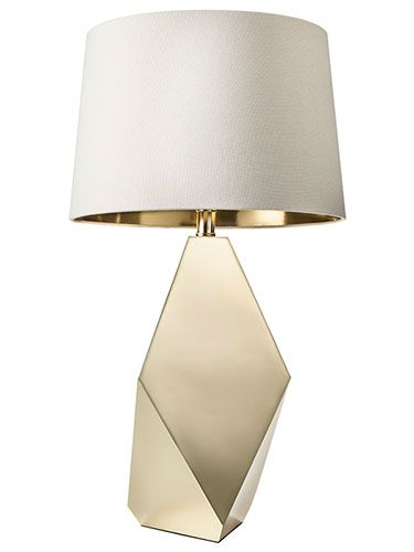 24 99 Nate Berkus Gold Lining Lamp Shade White Large 54 Table Base Includes Cfl Bulb Target