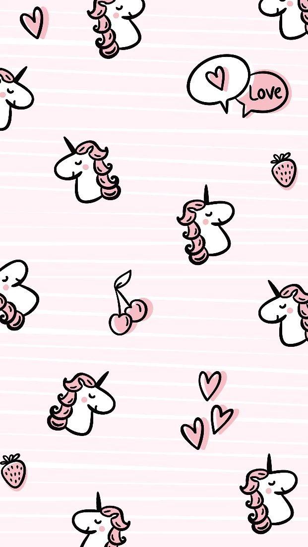 Wallpaper Lucu Pink Unicorn