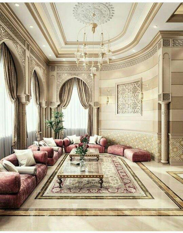 35 Cute And Gorgeous Arabian Living Room Ideas Livingroom Livingroomideas Arabic Moroccan Decor Living Room Home Decor Interior Design