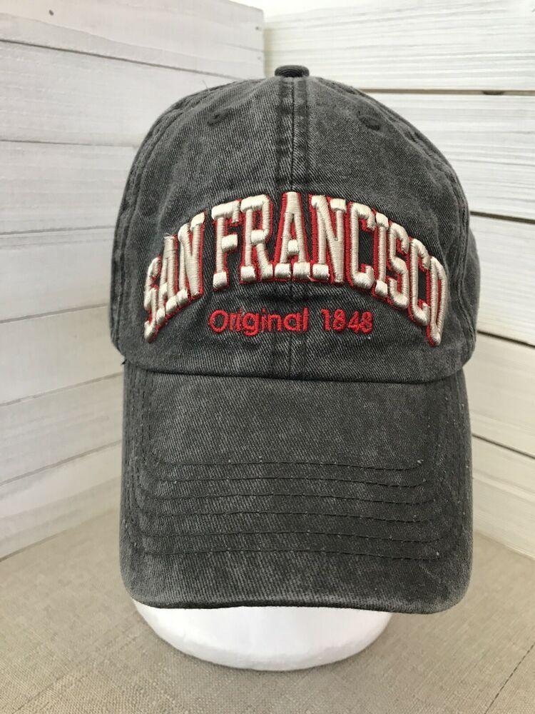 San Francisco 1848 Cap California Town Travel Hat California Robin Ruth Strapbac Ebay Travel Hat Hats For Sale Hats