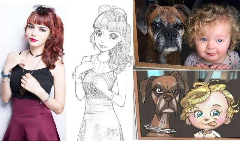 Seniman Ini Mengubah Foto Orang Asing Menjadi Gambar Anime Download Koleksi Gambar Kartun Anime For Android Apk Download Downlo Gambar Anime Kartun Gambar