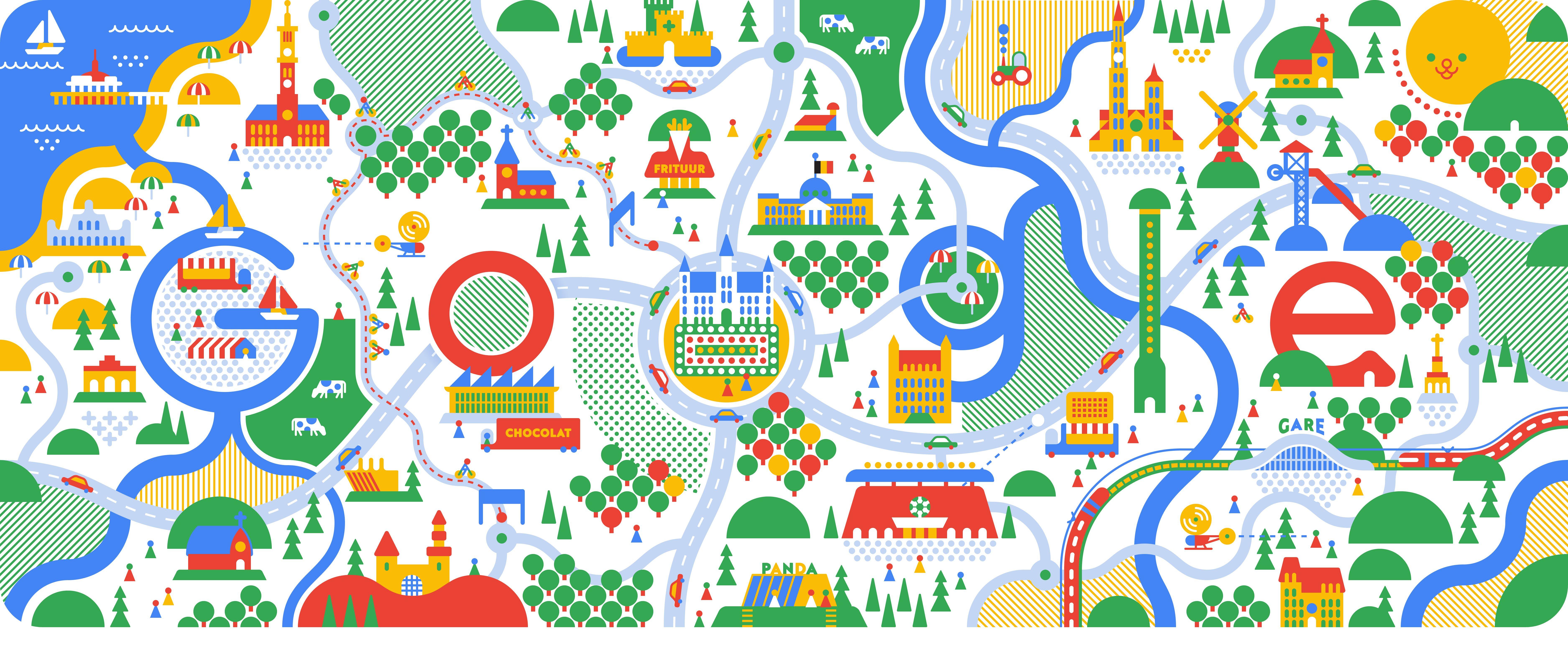 Herkent u de 20 Belgische trekpleisters in het Googlelogo