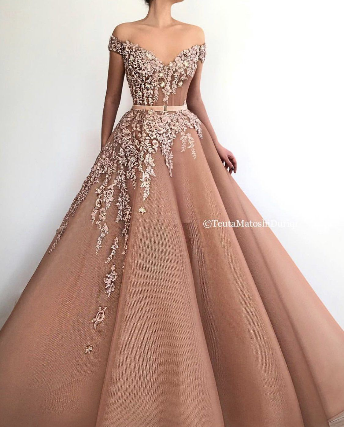 Flary Princess Gown Sweetheart Evening Dress Long Prom Gowns