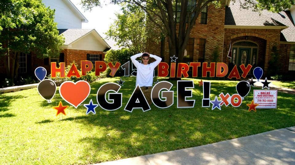 Happy 15th Birthday Gage Dallas Yard Greetings Hopes It Is Your