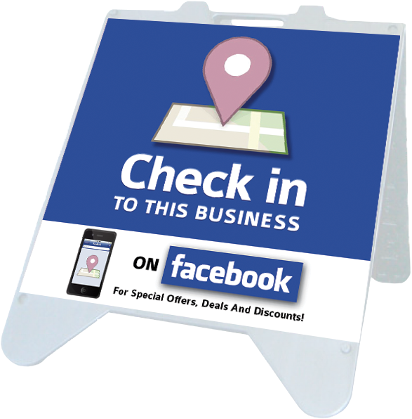 ez a frame check in facebook signs facebook signage pinterest. Black Bedroom Furniture Sets. Home Design Ideas