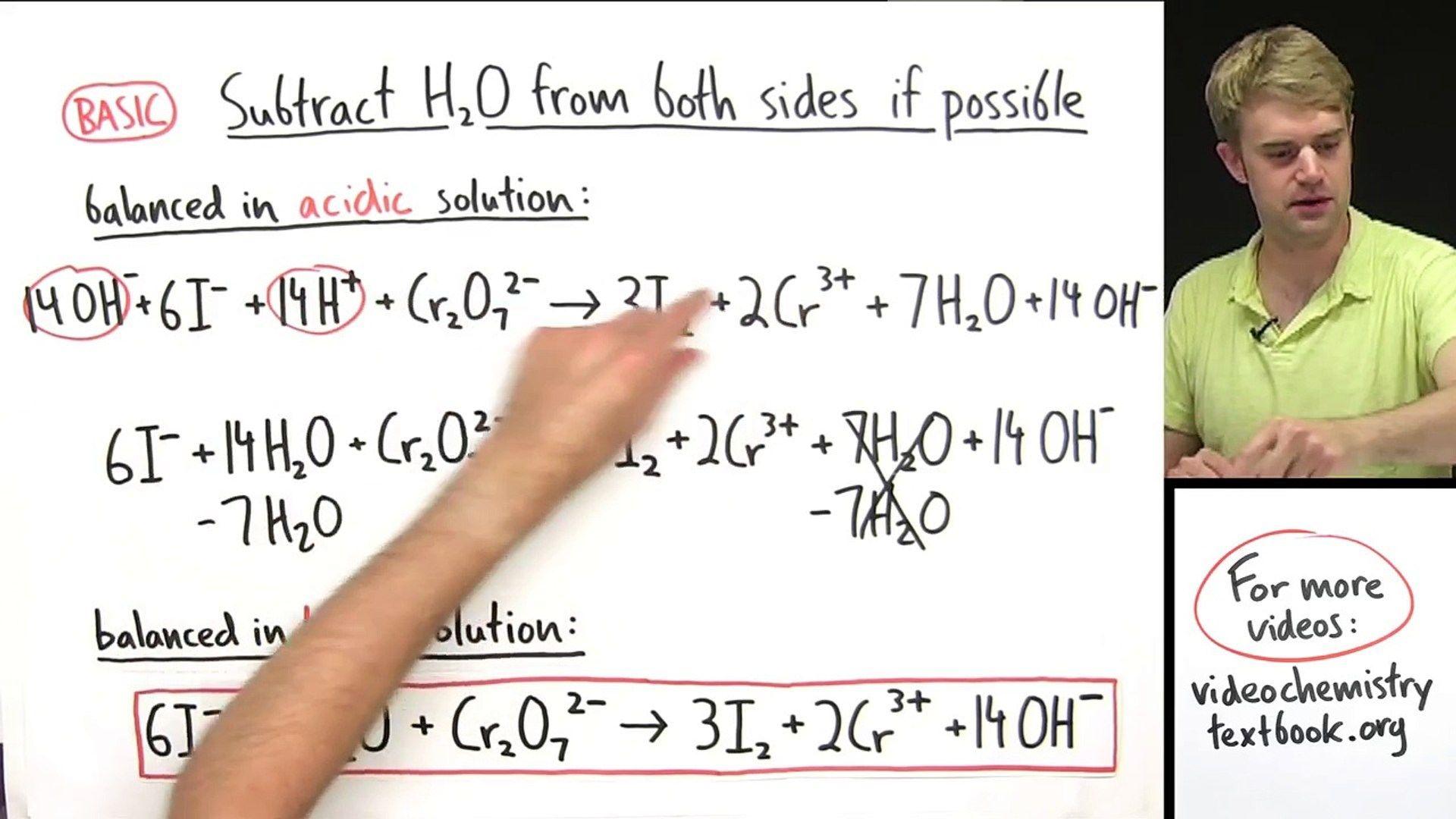 Balancing Equations Chemistry Worksheet