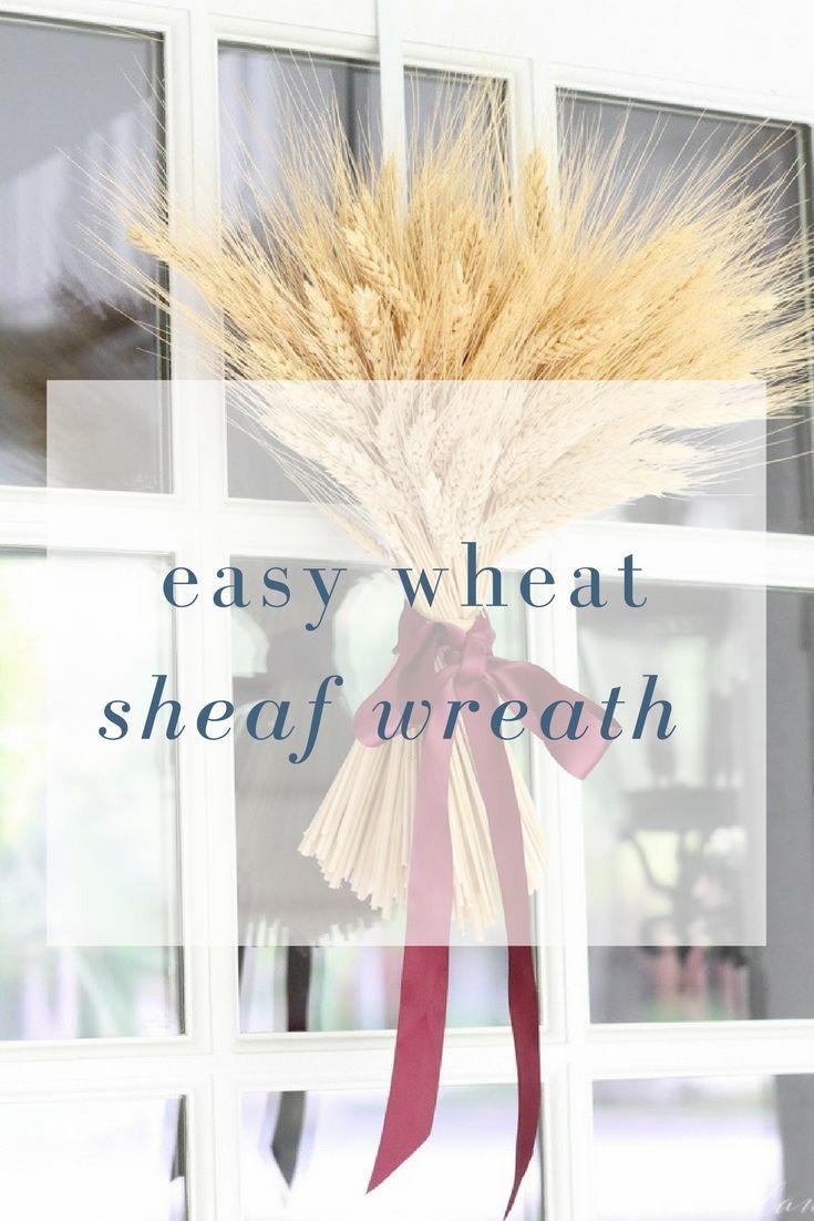 easy DIY wheat sheaf - fall decorating ideas & easy DIY wheat sheaf - fall decorating ideas | Top Bloggers - DIY ...