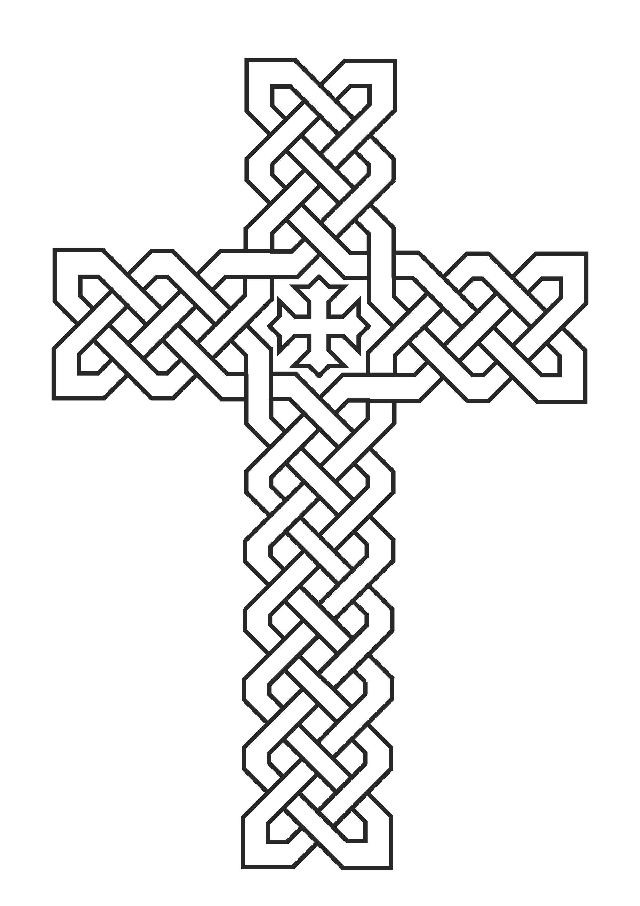 Cross Coloring Pages Coptic Cross موسوعة صور القديسين للتلوين