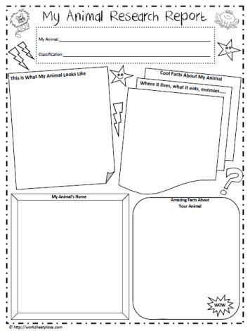 Animal Report Template | Making Lemonade In Second Grade: Animal