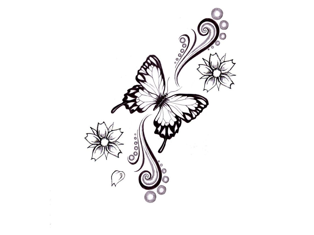 Butterfly star tattoo designs - Heart And Flower Tattoo Designs Index Of Wp Content Gallery Category