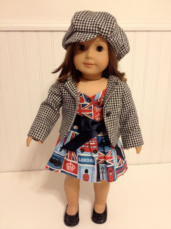 American Girl Doll Clothes - Day Trip to London. British imagery ...