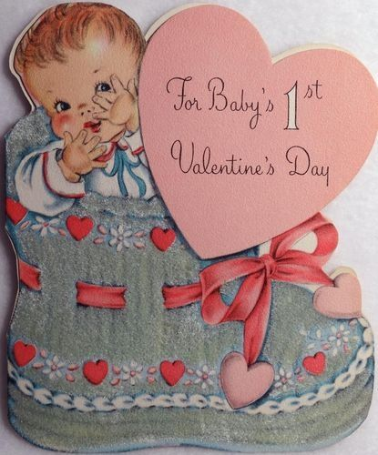 Baby\'s First Valentine\'s Day, vintage card, scrapbook decoration ...
