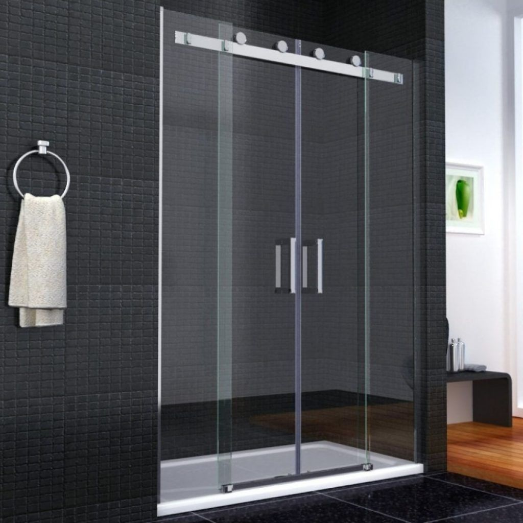 Dual sliding glass shower doors togethersandia