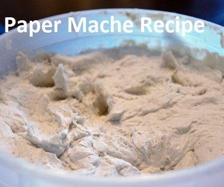 Paper Mache Clay Recipe   Harry Potter Party   Paper mache, Paper