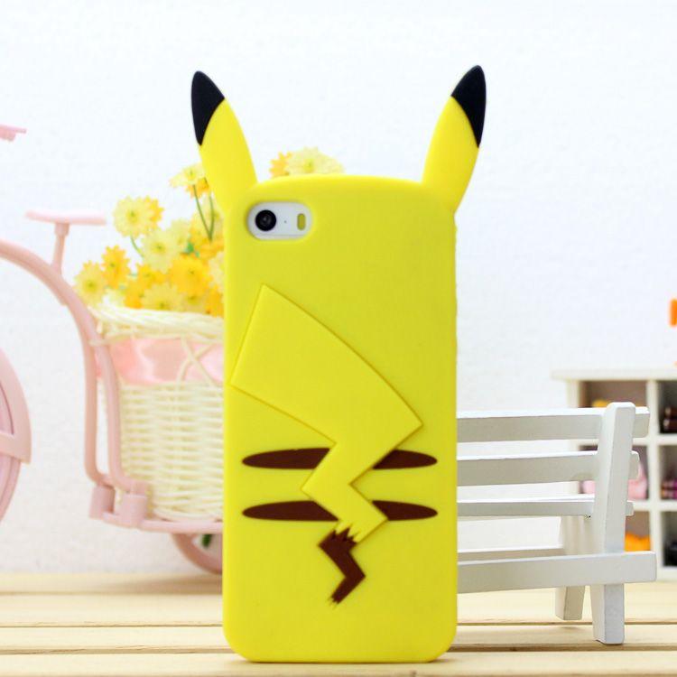 mignon pikachuu cas couverture pour coque iphone 4 4s 5 6 6 s plus 7 7 plus cas funda belle. Black Bedroom Furniture Sets. Home Design Ideas