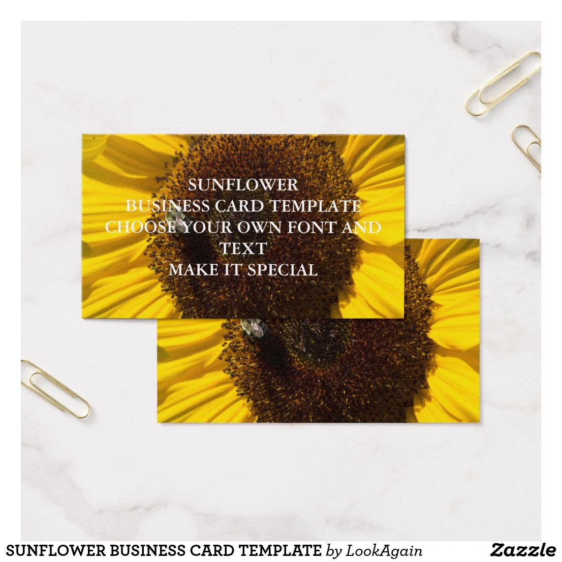 sunflower business card template