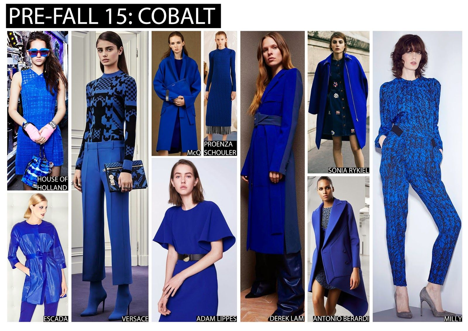 Pre-Fall 15, colour trends, fashion trends, trends 2015, cobalt ...
