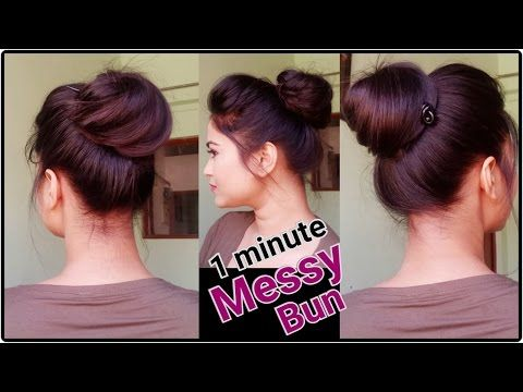 2 Minute Bubble Bun Hairstyle Easy Hairstyles For Medium Long Hair Youtube College Hairstyles Everyday Hairstyles Hairstyles For School