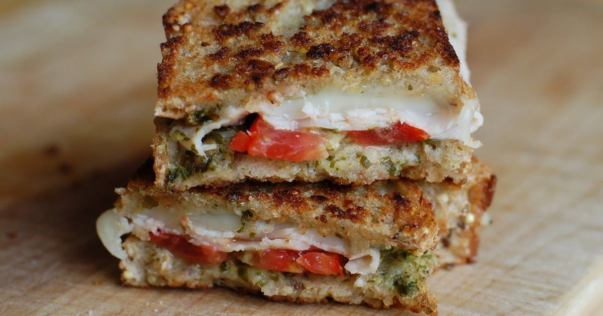 Barefoot and Baking: Turkey Pesto Grilled Cheese