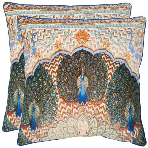 Raj 18-Inch Multi Decorative Pillows - Set of Two