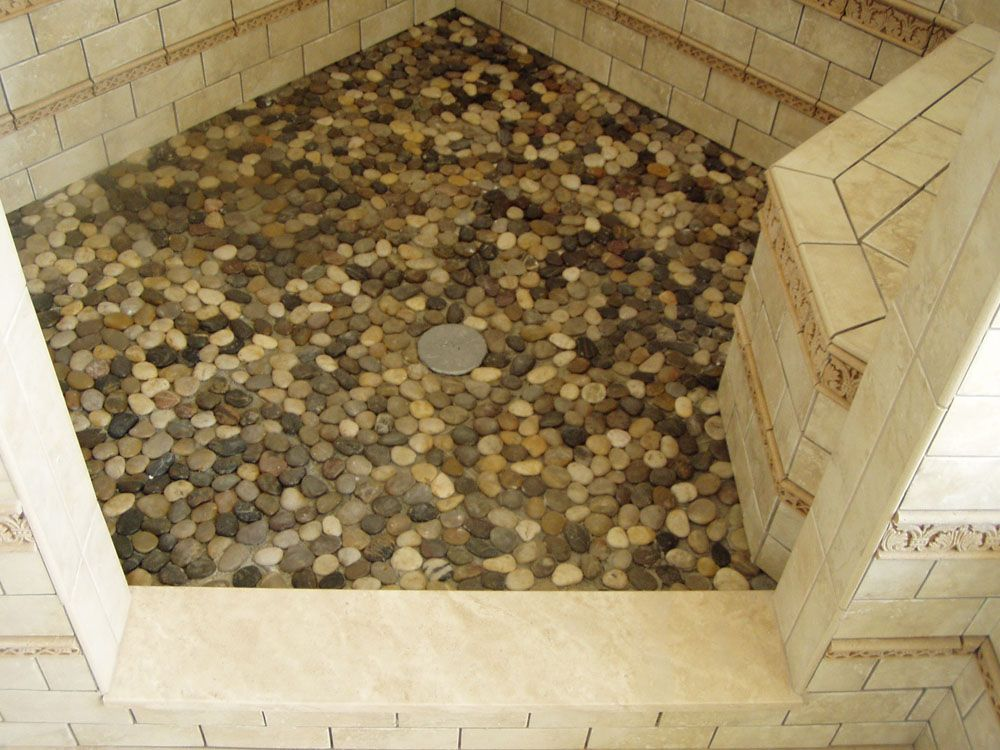 attractive pebble tile shower floor — floor tile ideas   my