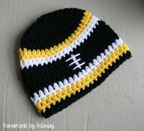 Pittsburgh Steelers Crochet Football Hat  Handmade by Holaday ... a446c40f4