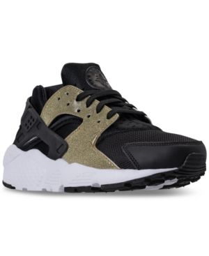 2af493ead312 Nike Girls  Air Huarache Run Se Running Sneakers from Finish Line - Black  5.5