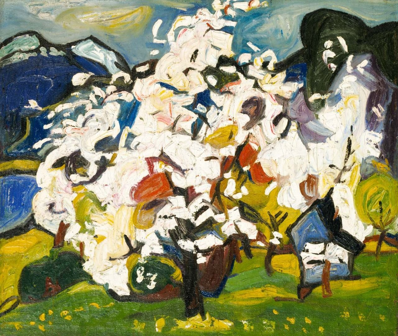 More blossoms for you william h johnson mountain