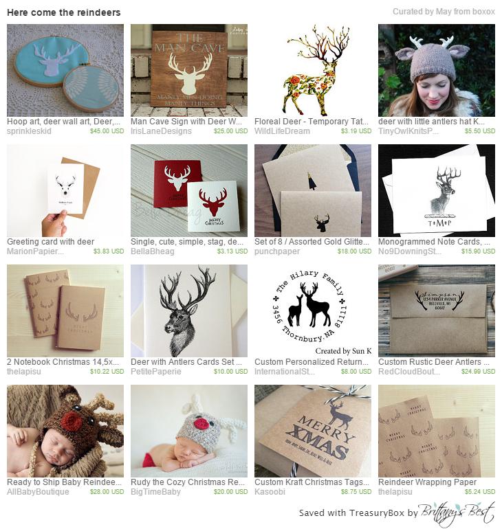 Reindeer Etsy Treasury  https://www.etsy.com/treasury/MjgzMTk2MjB8MjcyNDUxMjIwMw/here-come-the-reindeers