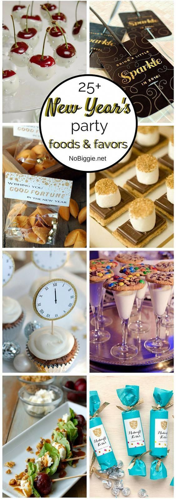 25+ New Year's Eve Party Foods and Favors