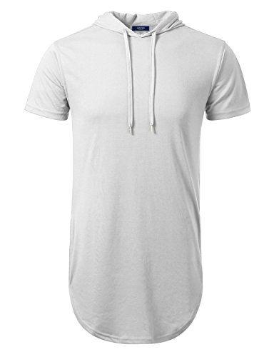 Men's Clothing - Aiyino Mens Hipster Hip Hop Short Sleeve Longline ...